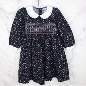 Carriage Boutiques Floral dress corduroy smocked